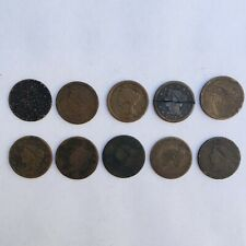 Lot of 10 Large Cents - 5 Coronet, 5 Braided Hair
