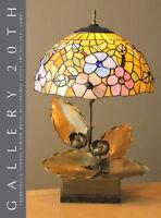 SUPERB! ORIGINAL ART NOUVEAU LOTUS SCULPTURAL LAMP! VTG 30'S 20'S DECO TIFFANY
