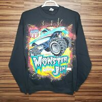 Deadstock Monster Jam Mens XL World Tour Double Sided Graphic Sweater Sweatshirt