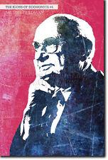 Iconos de la economía # 04-Milton Friedman-única foto impresión de arte Regalo Econ