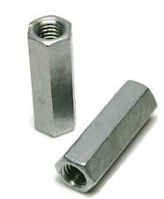 "Coupling Nut Hot Dipped Galvanized - 1/4""-20 (7/16"" F x 1-3/4"" L) - Qty-100"