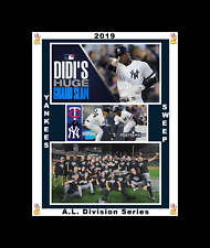NEW YORK YANKEES SWEEP TWINS 2019 ALDS MATTED SINGLE PHOTO COLLAGE #2