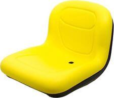 "Milsco XB150 Yellow Vinyl Seat 15.5"" Tall with Multiple Mounting Fits John Deere"