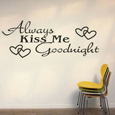 Black Always Kiss Me Goodnight Removable Wall Viny Art Sticker Decal Home Decor