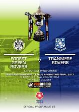 2017 NATIONAL LEAGUE PLAY-OFF FINAL - TRANMERE ROVERS v FOREST GREEN ROVERS
