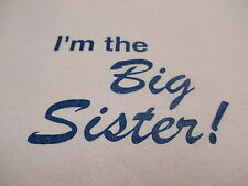 """Hanes Comfort Blend """" I'm The Big Sister """" Girls Youth Pink T-Shirt Size Small"""