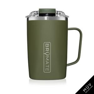 BRUMATE TODDY Mug 16 oz Leak proof Locking Lid hot or cool - OD GREEN