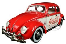 """1952 VW BEETLE DELUXE MODEL """"COCA-COLA"""" RED LTD ED 1/24 DIECAST BY M2 50300-RW04"""