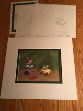THE PINK PANTHER MATTED PRODUCTION ANIMATION CEL+2 SKETCHES P28 MUCK LUCK TENT