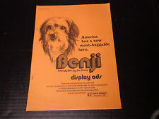 X-    MOVIE PRESSBOOK-BENJI the dog-Joe Camp film