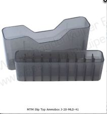 MTM Slip-Top Ammo Box 20 Round WSM 45-70 to 30-30 Clear Smoke J-20-MLD-41