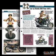 #jbt09.002 ★ HONDA CB 500 FOUR 1973 & EMILE LAPINCE ★ Joe Bar Team / Fiche Moto