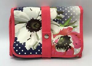 OBAGI Medical Cosmetic Bag Travel Pouch Folding Organizer in Polka Dot/ Floral