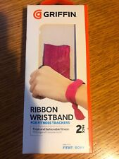 GRIFFIN RIBBON WRISTBAND PINK FOR FITNESS TRACKERS HOLDS FITBIT FLEX, ONE, SONY