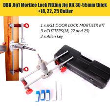 6PCS Mortice Door Fitting Jig Lock Mortiser Allen Key Kit JIG1 with 3 Cutters US