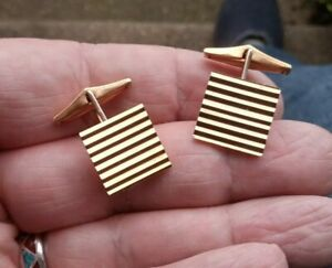 Vintage Pair Of Fine Yellow Metal Cuff Links