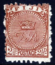 FIJI Queen Victoria 1891 2½ Pence Chocolate Perf.10 SG 79 MINT