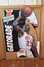1993 Vintage Michael Jordan Gatorade NBA Life Size Stand Up Cardboard Display