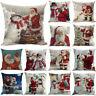 13 Patterns Christmas Santa Pillow Case Fall Sofa Waist Throw Cushion Cover Gift