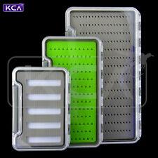 KCA Slim Fly Box, Waterproof, Clear Lid, 3 Sizes, 3 Inserts