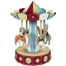VINTAGE CIRCUS CARNIVAL PARTY TISSUE CAROUSEL CENTREPIECE DECORATION
