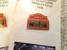 10th Anniv. 8/8/88 Chicago Cubs Opening Night Pin SGA 1998