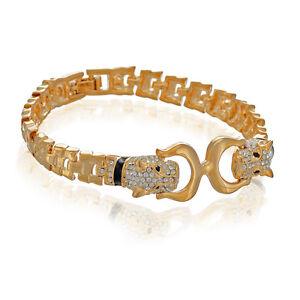 Janeo Swarovski Elements Panther Design Bangle Bracelet Links Christmas Gift Her