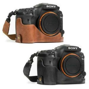 """MegaGear """"Ever Ready"""" Genuine Leather Camera Case for Sony Alpha A99 II"""
