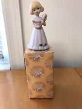 "Enesco Growing Up Girls ""Blonde Age 5� Porcelain Figurine, 4� Used Excellent i2"