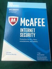 McAfee Internet Security 2017 - 10 Device - New Sealed Free Shipping