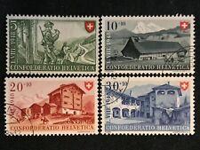 Switzerland SC #B174-77 Used Set 1948
