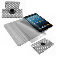 APPLE IPAD MINI CASE COVER+SCREEN PROTECTOR SWIVEL POLYURETHANE GRAY WAKE SLEEP