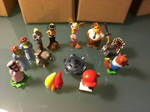 Kinder Surprise toys X13; Princess Fiona+ other Shrek; Chicken Little characters