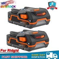 2PACK 18V R840085 Lithium Ion Battery for Ridgid R840087 R840084 R840083 R840086