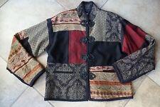 MAX & MABEL Patch Work Long Sleeve Jacket Blazer 1