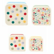 Emma Bridgewater Set of 4 Polka Dot Lidded Snack / Picnic Kitchen Storage Tubs