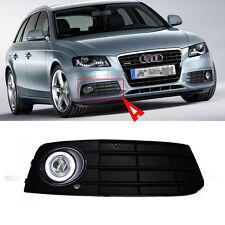For Audi A4L/B8 09-12 Fog Light Kit + Black Cover COB Angel Rings Projector Lens