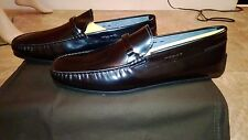 $660 NIB Authentic TOD'S Made in ITALY Black Leather Driving Moccasin Sz.10.5 FS