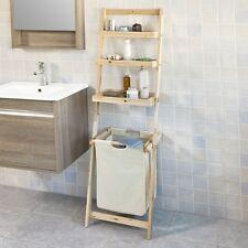 Sobuy Étagère murale Style Échelle pour Salle de bain avec 1 Panier Frg160-n FR
