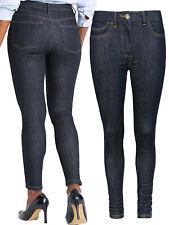 Ladies/Women's New Ex M&S INDIGO Mix Mid Rise Super Skinny Jeans - Plus 18R