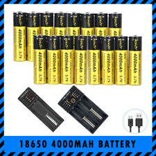 Bulk 18650 BORUIT 3.7V 4000mAh Rechargeable Lithium Battery Optional USB Charger