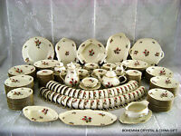239PC VG GERMAN ROSENTHAL SANSSOUCI MOSS ROSE IVORY CHINA 24 10PC PLACE SETTINGS