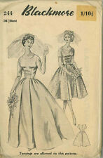 Vintage 1940's Bridal Gown & Bridesmaid Dress Sewing Pattern BLK244 Bust 36""