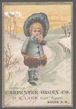Trade Card KEENE New Hampshire/NH Carpenter Organ Co. Promo Ad.1880's