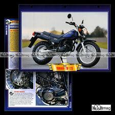 #099.07 Fiche Moto YAMAHA TW 125 2002 Trail Bike Motorcycle Card