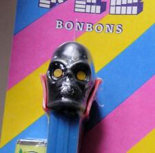 Rare Diablo Black Skull Pez, Blue Stem. Mint On Card, With Bon Bons. U.S. pat.