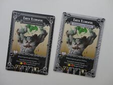 Massive Darkness: Earth Elemental cards (lesser and greater roaming monster)
