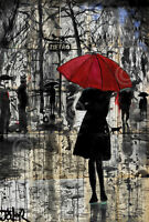 SCENIC ART PRINT - Metro by Loui Jover Red Umbrella Poster 11x14