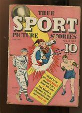 TRUE SPORT PICTURE STORIES #1 (4.0) BUDDY HASSETT! 1943
