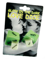 KAMA SUTRA LOVE DICE GAME GLOW IN THE DARK Saucy Adult ROMANTIC Sex Aid